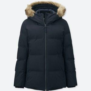 Women's seamless down jacket